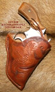 """Gary C's Western Hand Carved RH HOLSTER S&W J Frame 1-7/8""""- 2"""" Butt Forward Cant"""