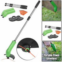 Portable Grass Trimmer Cordless Garden Lawn Weed Cutter Edger w/ Zip Ties Kits