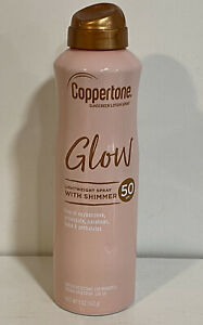 Coppertone Sunscreen Lotion Spray Glow Lightweight Spray with Shimmer SPF 50