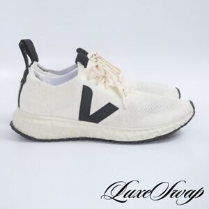 LNWOB Veja Brazil x Rick Owens Cream Black Mesh Sock Knit Runner Sneakers 11 NR