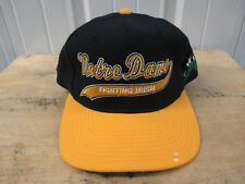 VINTAGE STARTER NOTRE DAME FIGHTIN' IRISH SCRIPTED SEWN SNAPBACK 90s PREOWNED