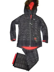 Under Armour women black Infrared Kymera Jacket & Pants snowboard set Small $460