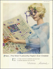1950's Vintage AD  MODESS Feminine Protection  Pretty AD (021915)