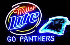 "New Miller Lite Carolina Panthers Beer Bar Pub Neon Light Sign 24""x20"""