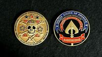"""CENTRAL INTELLIGENCE AGENCY CIA LETHAL COVERT ACTION 2"""" CHALLENGE COIN - RARE!"""