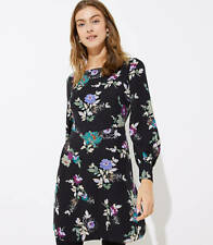 356432fdd66 New ListingNWT Ann Taylor Loft Winter Garden Square Neck Flare Neck Dress  Size 0 Black 9149
