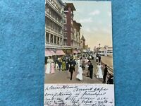 The Boardwalk, Atlantic City New Jersey Vintage Postcard