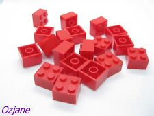 LEGO PART 3003 BRICKS 2 X 2 RED FOR 19 PIECES