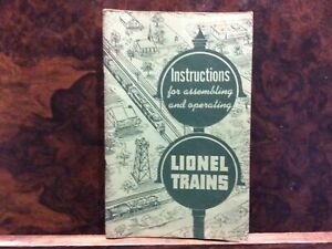 Instructions For Assembling And Operating Lionel Trains 1951