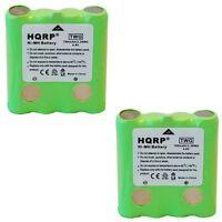 2-Pack HQRP Battery for Cobra PR135 PR240 PR245 PR250-WX-C PR255-VP