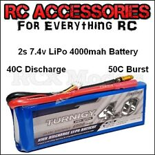 Turnigy 4000mAh LiPo Lithium Polymer Battery 2S 7.4V RC 40C 50C High Discharge !
