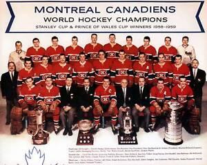Montreal Canadiens 1958-59 Championship Team Photo