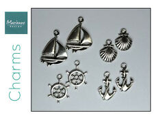 """MARIANNE CARD CHARMS - """"YACHT CHARMS - MARITIME"""" JU0891 FOR CARDS & SCRAPBOOKING"""