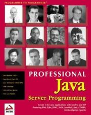 Professional Java Server Programming: with Servlets, JavaServer Pages (JSP),
