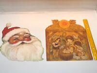 Vintage Hallmark Christmas Die-cut Decoration USA Santa Nativity