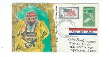 USA 1958 colorful hand painted stamp cover Marsh dweller of Southern Iraq
