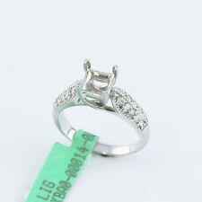 NYJEWEL Brand New 14k White Gold 0.4ct Diamond Engagement Ring Setting Set