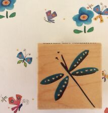 Dragonfly Wood Mounted Rubber Stamp Whimsical Art Insect Bug Nature Dragonflies
