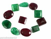 102-5002 Ct.Natural Mix Cut Loose Emerald & Ruby Gemstone Wholesale Lot Ebay
