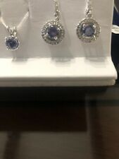14kt White Gold Tanzanite Earring Set