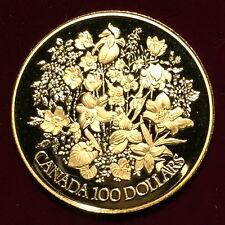 "*1977 Canada $100 Dollar Proof Gold Coin ""Silver Jubilee"" In Case w/ COA*"