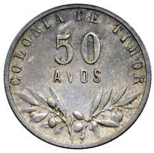 TIMOR 50 Avos 1945 Silver Original XF Portuguese Colony Key date!