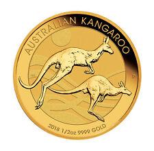 2018 $50 1/2oz Gold Australian Kangaroo .9999 BU