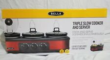 Bella Triple Slow Cooker and Server