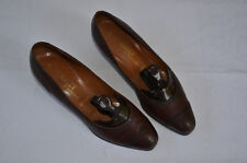 Damenpumps, braun, Größe 39, Lochverzierung, Gummisohlen, Holzabsatz 3cm