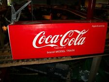 L G B COCA COLA  REEFER TRAIN CAR  G SCALE , VERY NICE WITH BOX & SLEAVE