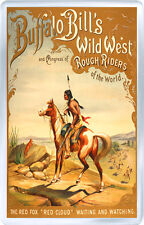BUFFALO BILL WILD WEST FRIDGE MAGNET IMAN NEVERA