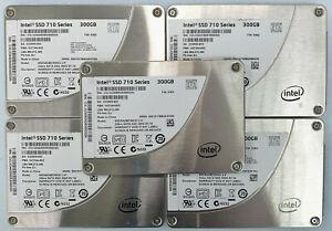 """5 x Used INTEL SSD 710 Series 300GB 2.5"""" SATA SSDSA2BZ300G3 Solid State Drive"""