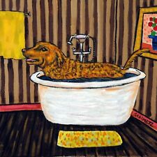 chesapeake bay retriever bath dog art tile coaster gift artwork print