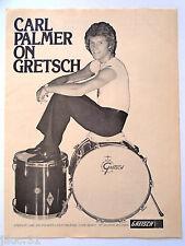 "Affichette GRESTCH Batterie ""Carl Palmer"""