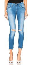 Rag & Bone Authentic Clio Skinny Ripped Capris Jeans Sz 26