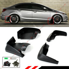 FOR 2012-15 9TH GEN HONDA CIVIC 4DR SEDAN MUD FLAPS SPLASH GUARD SET FRONT+REAR