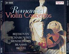 ROMANTIC VIOLIN CONCERTOS : BEETHOVEN, MENDELSSOHN-BARTHOLDY,... / 3 CD-SET