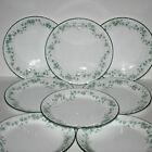 8 Corning Corelle CALLAWAY Green Ivy Swirl Dinner Plates 10 Inch, Set of 8
