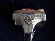 CHEVALIÈRE  Franc-Maçon Freemason cameo ring white gold XIXème  or blanc 14,3 gr