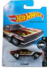 Hot Wheels 2017 Super Treasure Hunt `67 Camaro By Chevrolet Card International^^
