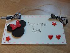 Minnie Mouse Disney personalised room plaque sign girls bedroom nursery