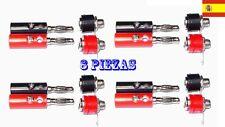 8x Banana plugs conector 8 piezas macho más 8 piezas hembra (4mm) 34
