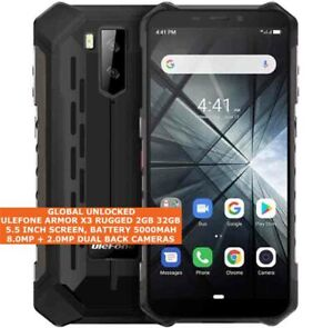 """Ulefone Armure X3 Robuste 2gb 32gb Imperméable 8.0mp Caméra 5.5 """" Android 9.0 3g"""