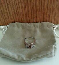 Sterling Silver Three-Stone Gemstone Ring - Very Nice!