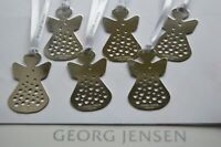 GEORG JENSEN ANGEL (6) Christmas Decorations SILVER Limited Edition NEW