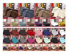 Plain Dyed Bedding Fitted Valence Sheet Flat Sheet Duvet Cover Pillowcase Cotton