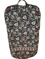 "Vera Bradley Garment Bag Java Blue Travel Retired Compartments Brown 48x25"" Zip"