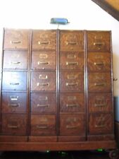 VERY RARE Antique Oak File Cabinet on Casters ~ MACEY Co ~ Large Piece 5 ft tall