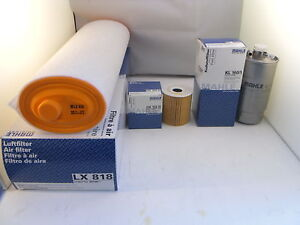 BMW X5 3.0 Diesel Service Kit Oil Air Fuel Filter 2001 to 2003 MAHLE 184BHP