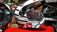 HONDA ARAI TOUR X 4 NEW TOUR X4 ADVENTURE AFRICA TWIN CRASH HELMET HRC WHITE L